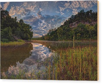 Meramec River  Wood Print by Robert Charity