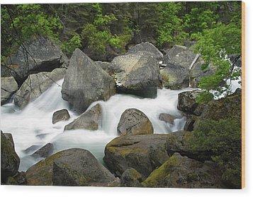 Wood Print featuring the photograph Merced River by Chuck De La Rosa