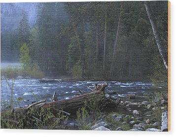 Merced River Wood Print by Duncan Selby