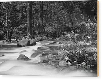 Wood Print featuring the photograph Merced River by Jason Abando