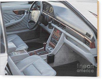 Mercedes 560 Sec Interior Wood Print by Gunter Nezhoda