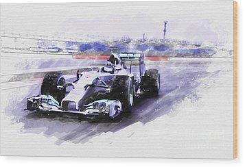 Mercedes F1 W05 Wood Print
