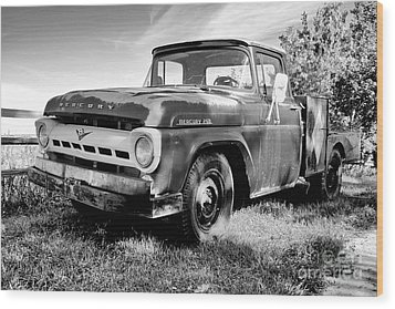 Wood Print featuring the photograph Mercury 250 Bw by Trever Miller