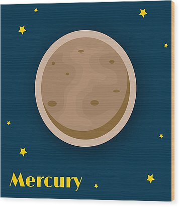Mercury Wood Print by Christy Beckwith
