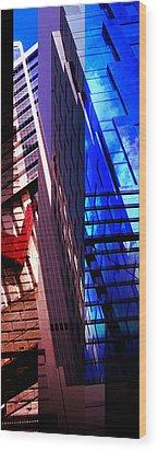 Merged - City Blues Wood Print by Jon Berry OsoPorto