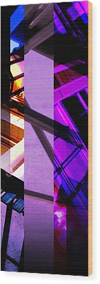 Merged - Purple City Wood Print by JBDSGND OsoPorto
