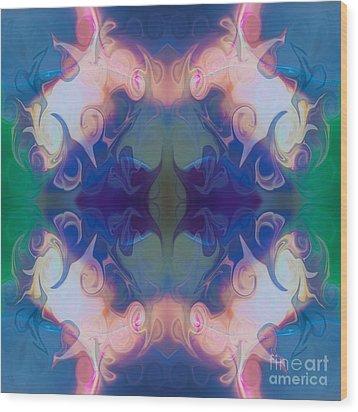 Merging Fantasies Abstract Pattern Artwork By Omaste Witkowski Wood Print by Omaste Witkowski