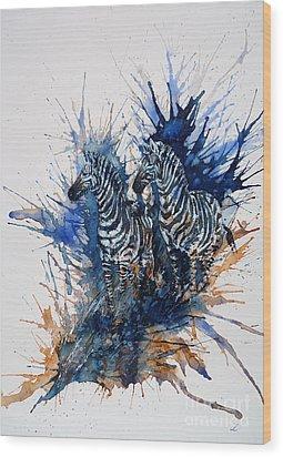 Merging With Shadows Wood Print by Zaira Dzhaubaeva
