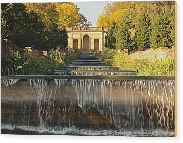 Meridian Hill Park Waterfall Wood Print