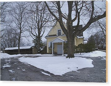 Merion Meeting House - Narberth Pa Wood Print by Bill Cannon