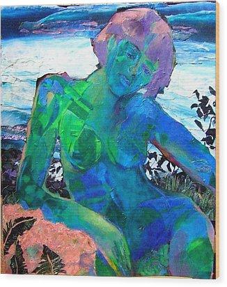 Mermaid Wood Print by Diane Fine