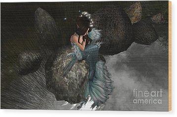 Mermaids Tail Wood Print