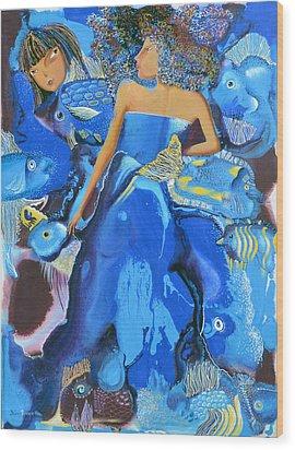 Mermaids Wood Print by Yelena Revis