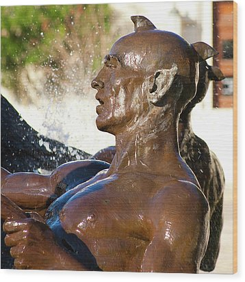 Merman - Littlefield Fountain University Of Texas  Wood Print by Mark Weaver