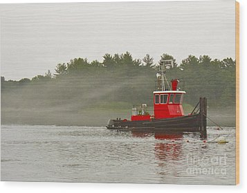 Wood Print featuring the photograph Merrimack Mist by Alice Mainville