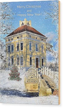 Merry Christmas And Happy New Year Wood Print by Gynt