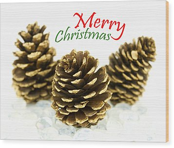 Merry Christmas Wood Print by Blink Images