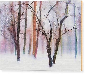Merry Christmas Card Wood Print by Jessica Jenney