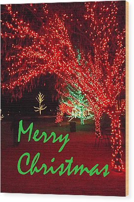 Wood Print featuring the photograph Merry Christmas by Darren Robinson
