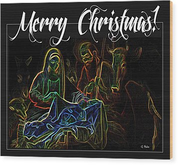 Merry Christmas Wood Print by George Pedro