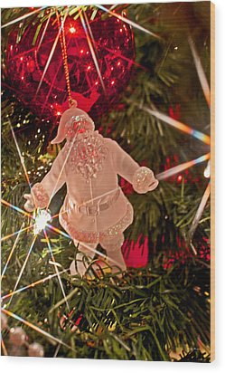 Merry Christmas - Santa Ornament 001 Wood Print by George Bostian