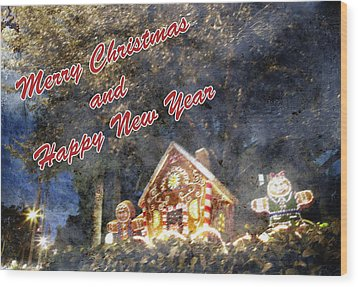 Merry Christmas Wood Print by Skip Nall
