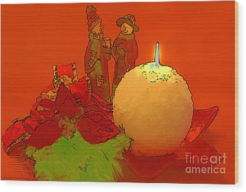 Wood Print featuring the photograph Merry Christmas by Teresa Zieba