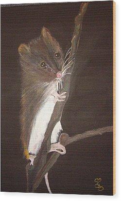 Mervyn Mouse Wood Print