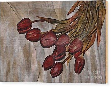 Mes Tulipes Wood Print by Aimelle