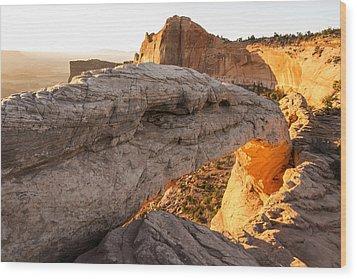 Mesa Arch Sunrise 6 - Canyonlands National Park - Moab Utah Wood Print by Brian Harig