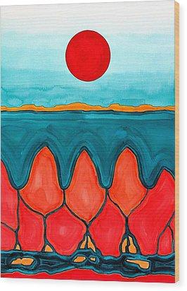 Mesa Canyon Rio Original Painting Wood Print
