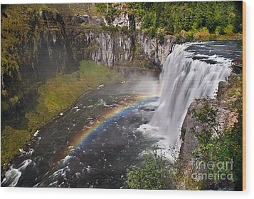 Mesa Falls Wood Print by Robert Bales