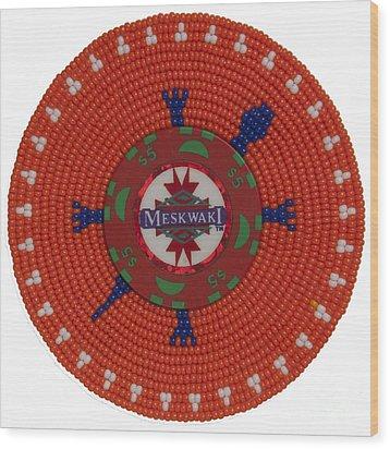 Meskwaki Orange Wood Print