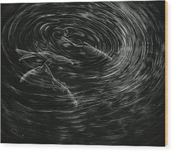 Mesmerized Wood Print by Sandra LaFaut