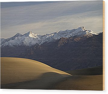 Wood Print featuring the photograph Mesquite Dunes And Grapevine Range by Joe Schofield