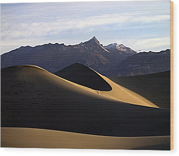 Wood Print featuring the photograph Mesquite Dunes At Dawn by Joe Schofield