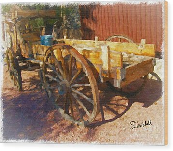 Mesquite Wagon Wood Print