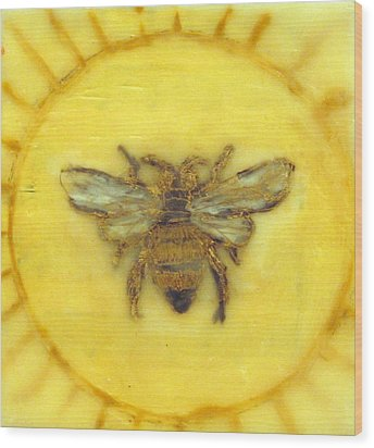Message Of The Bees 3 Wood Print by Janelle Schneider