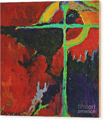 Wood Print featuring the painting Message To The Spirit by Alison Caltrider