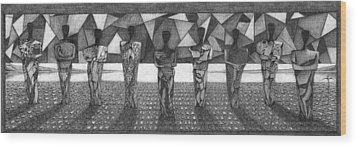 Wood Print featuring the drawing . by James Lanigan Thompson MFA