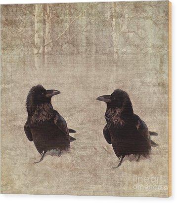 Messenger Wood Print by Priska Wettstein