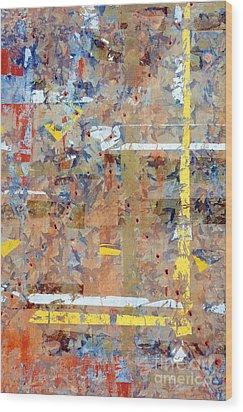 Messy Background Wood Print by Carlos Caetano