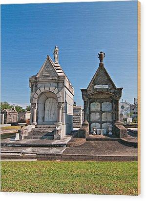 Metairie Cemetery 4 Wood Print by Steve Harrington