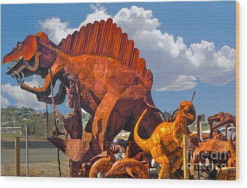 Metal Dinosaurs - 01 Wood Print by Gregory Dyer