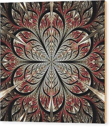 Metal Flower Wood Print by Anastasiya Malakhova