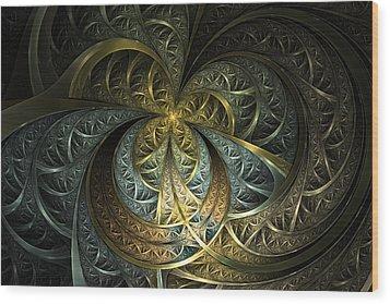 Metal Glass Wood Print