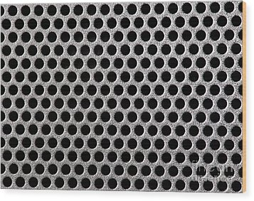 Metal Grill Dot Pattern Wood Print by Simon Bratt Photography LRPS