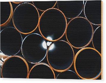 Metal Pipes Wood Print by Fabrizio Troiani