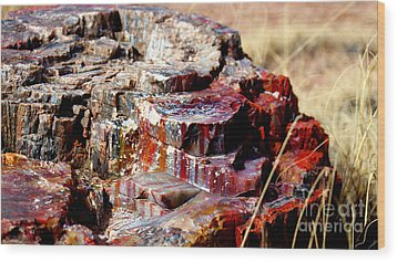 Metal Rock Wood Print