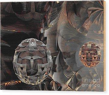 Metal Spheres Wood Print by Bernard MICHEL